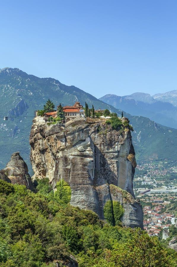 Μοναστήρι της ιερής τριάδας, Meteora, Ελλάδα στοκ εικόνες