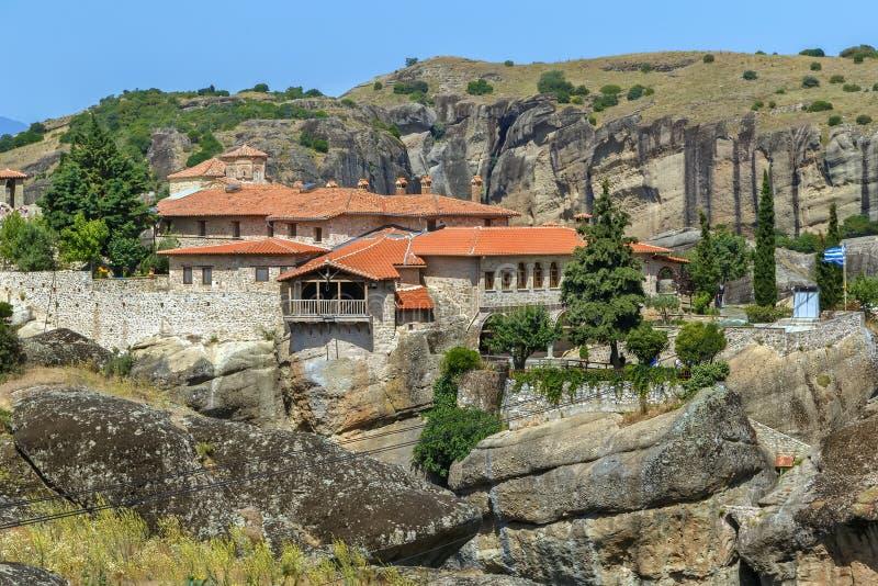 Μοναστήρι της ιερής τριάδας, Meteora, Ελλάδα στοκ εικόνα με δικαίωμα ελεύθερης χρήσης