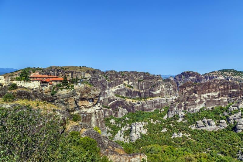 Μοναστήρι της ιερής τριάδας, Meteora, Ελλάδα στοκ φωτογραφία με δικαίωμα ελεύθερης χρήσης