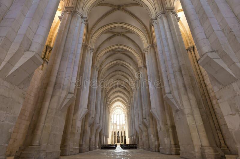 Μοναστήρι Alcobaca Αριστούργημα της γοτθικής αρχιτεκτονικής Κιστερκιανή θρησκευτική διαταγή στοκ φωτογραφία με δικαίωμα ελεύθερης χρήσης