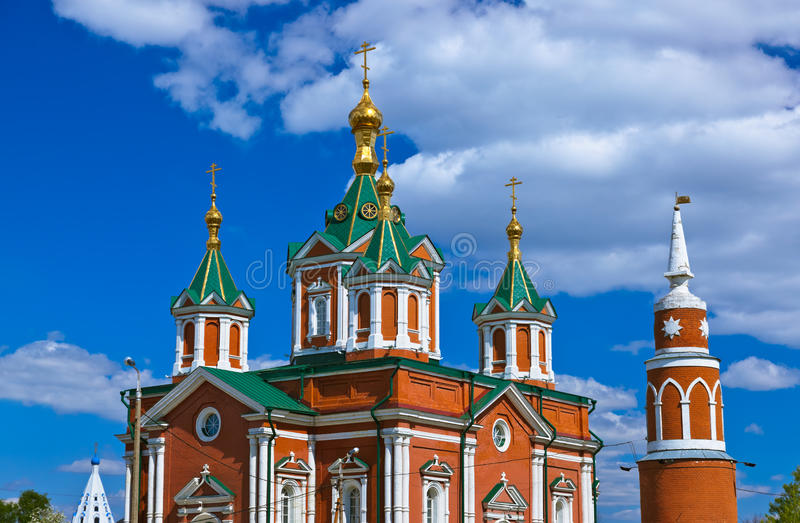 Μοναστήρι Brusensky Uspensky σε Kolomna Κρεμλίνο - Ρωσία - Mosco στοκ φωτογραφία