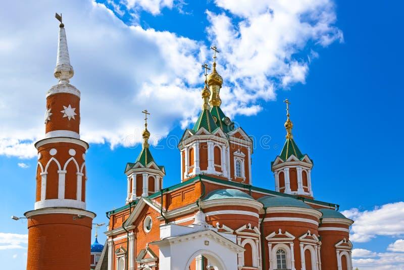 Μοναστήρι Brusensky Uspensky σε Kolomna Κρεμλίνο - Ρωσία - Mosco στοκ εικόνες