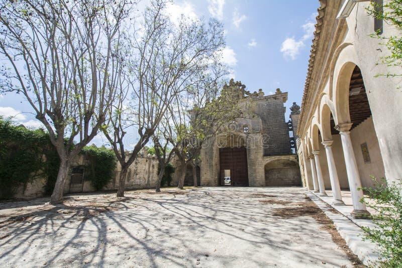 Μοναστήρι Cartuja, Λα Frontera, Ισπανία Jerez de (Charter House) στοκ εικόνα με δικαίωμα ελεύθερης χρήσης