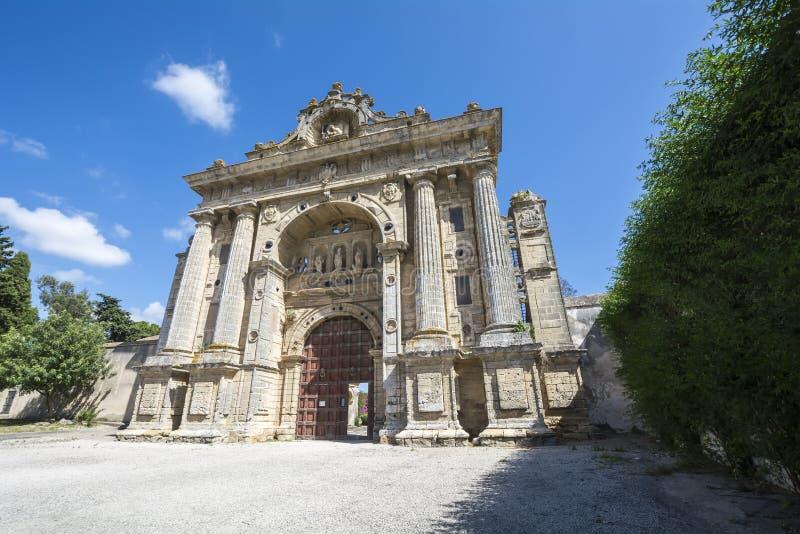 Μοναστήρι Cartuja, Λα Frontera, Ισπανία Jerez de (Charter House) στοκ φωτογραφίες με δικαίωμα ελεύθερης χρήσης