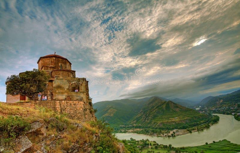 μοναστήρι jvari στοκ φωτογραφία
