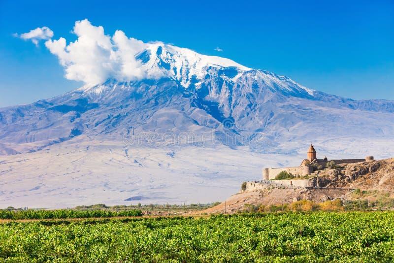 μοναστήρι khor της Αρμενίας virap στοκ εικόνα