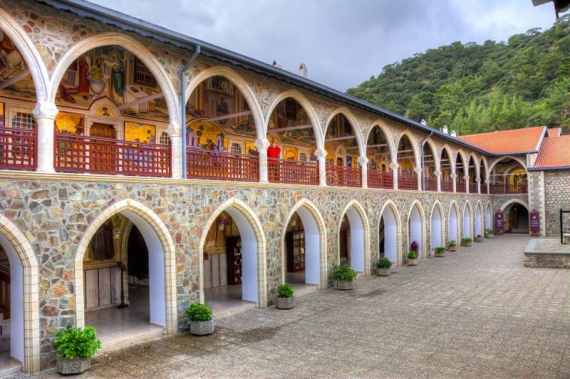 Μοναστήρι Kykkos στα βουνά Troodos, νησί της Κύπρου στοκ φωτογραφία με δικαίωμα ελεύθερης χρήσης