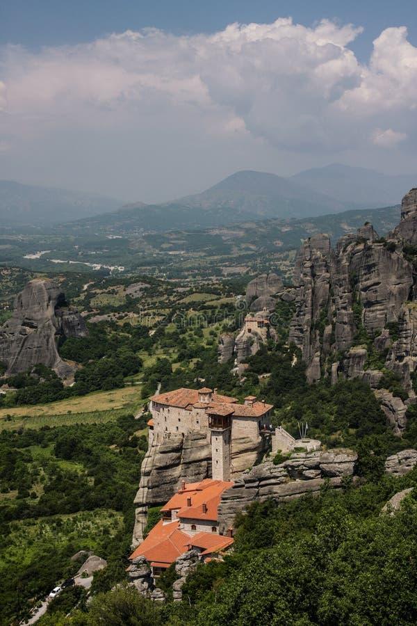 Μοναστήρι Meteora Ελλάδα του Άγιου Βασίλη στοκ φωτογραφία με δικαίωμα ελεύθερης χρήσης