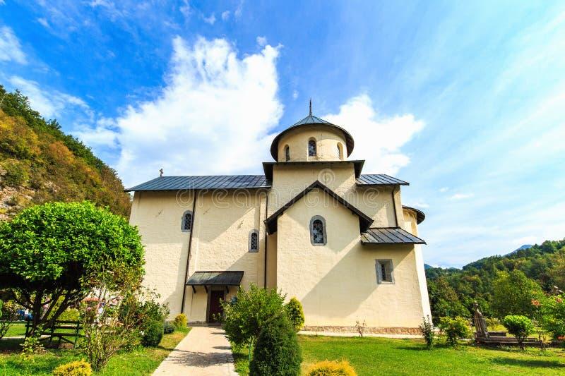 Μοναστήρι Moraca, μια σερβική Ορθόδοξη Εκκλησία σε Kolasin, Μαυροβούνιο στοκ φωτογραφίες