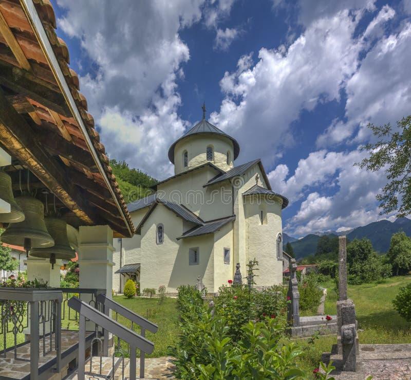Μοναστήρι Moraca στο Μαυροβούνιο στοκ εικόνα