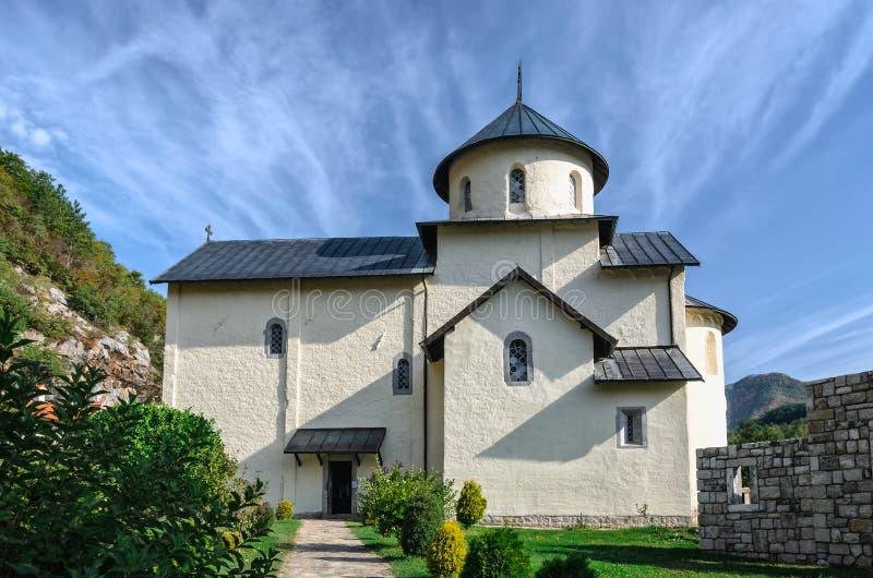 Μοναστήρι Moraca στο Μαυροβούνιο στοκ φωτογραφίες με δικαίωμα ελεύθερης χρήσης
