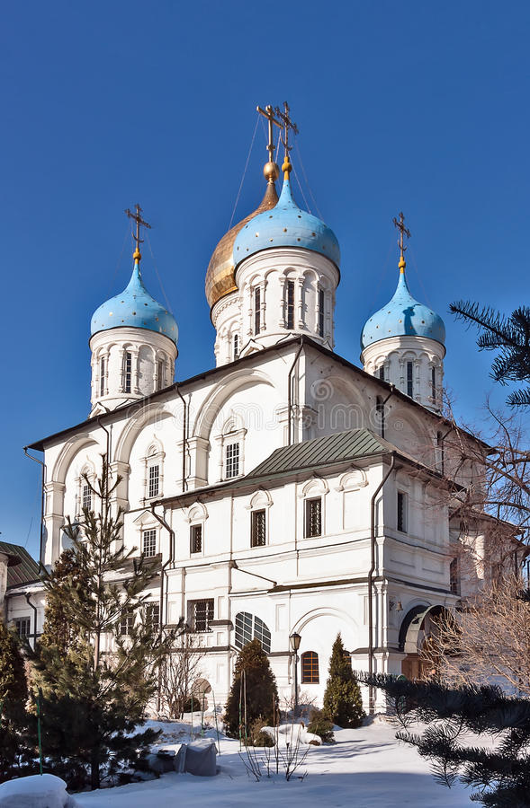 Μοναστήρι Novospassky, Μόσχα, Ρωσία στοκ εικόνα με δικαίωμα ελεύθερης χρήσης