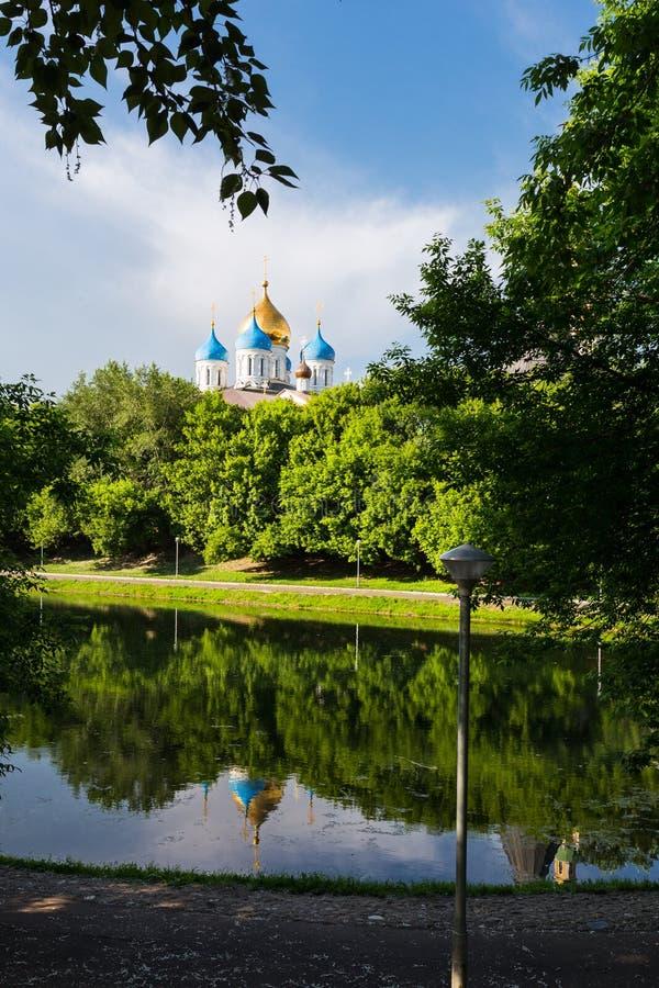 Μοναστήρι Novospassky στη Μόσχα Ρωσία στοκ εικόνα με δικαίωμα ελεύθερης χρήσης