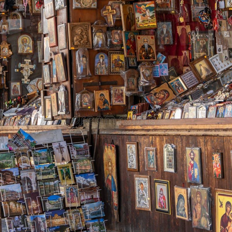 Μοναστήρι Rila, θρησκευτικά αναμνηστικά της Βουλγαρίας για την πώληση στοκ εικόνες
