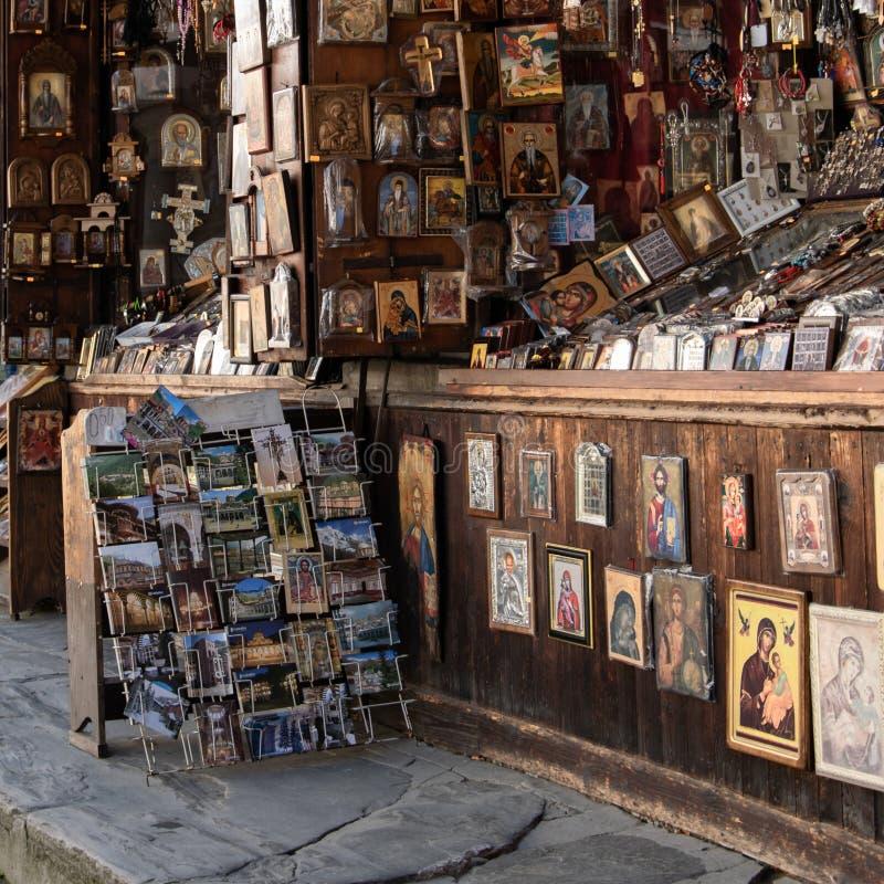 Μοναστήρι Rila, θρησκευτικά αναμνηστικά της Βουλγαρίας για την πώληση στοκ φωτογραφία με δικαίωμα ελεύθερης χρήσης