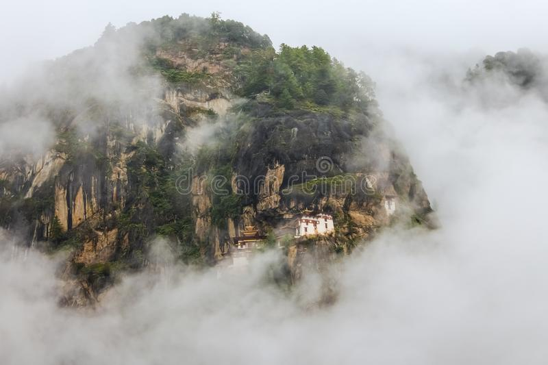 Μοναστήρι Taktshang (φωλιά της τίγρης), κοιλάδα Paro, περιοχή Paro, Μπουτάν στοκ εικόνες