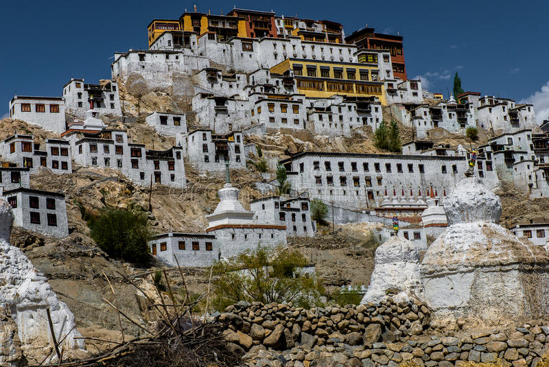 Μοναστήρι Thiksay στοκ φωτογραφία με δικαίωμα ελεύθερης χρήσης