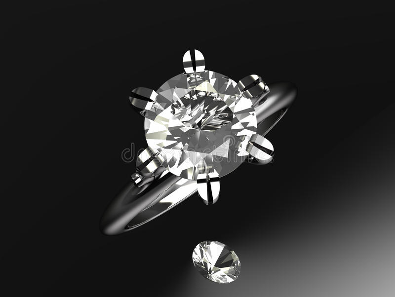 μοναχικός δαχτυλιδιών λ&eps απεικόνιση αποθεμάτων
