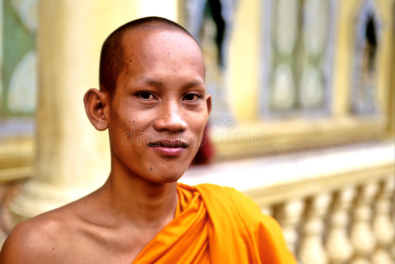 μοναχός της Καμπότζης στοκ εικόνα με δικαίωμα ελεύθερης χρήσης