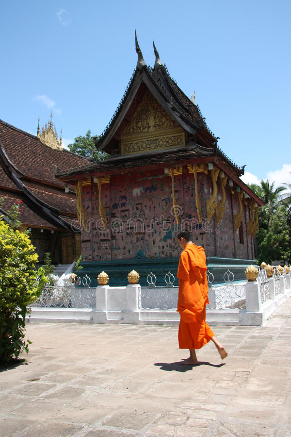 μοναχός του Λάος στοκ εικόνα