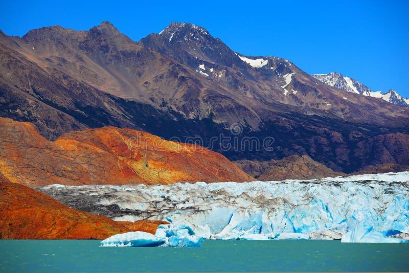 Μοναδική λίμνη Viedma στην αργεντινή Παταγωνία στοκ εικόνα με δικαίωμα ελεύθερης χρήσης