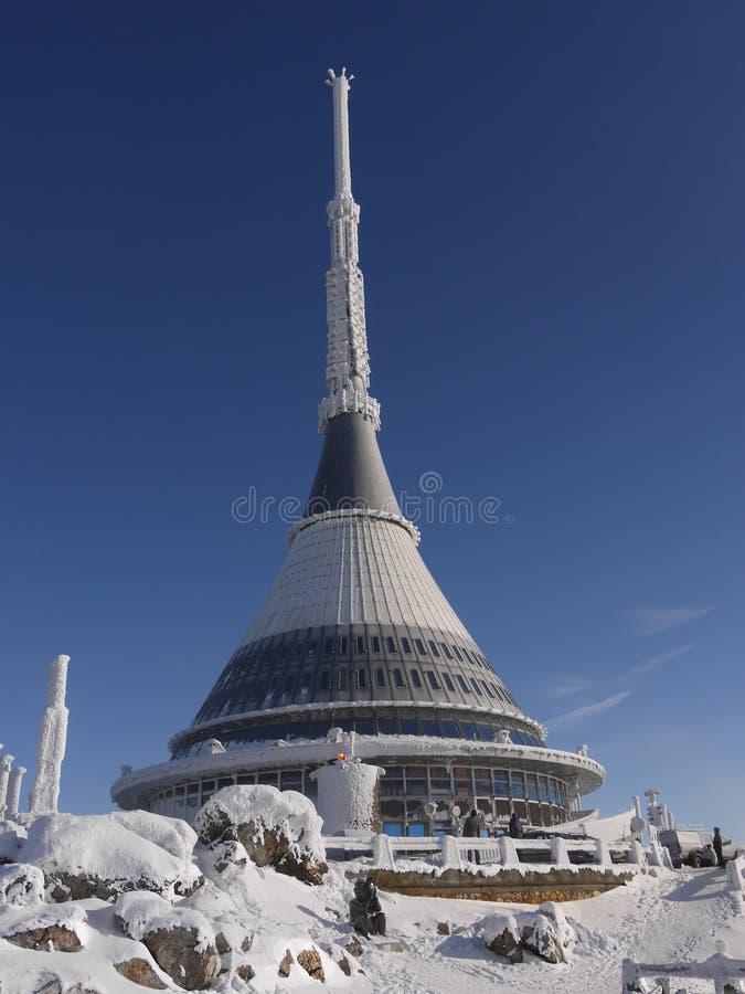 Μοναδικός αιώνας ορόσημων αρχιτεκτονικής πύργων Jested στοκ φωτογραφίες με δικαίωμα ελεύθερης χρήσης