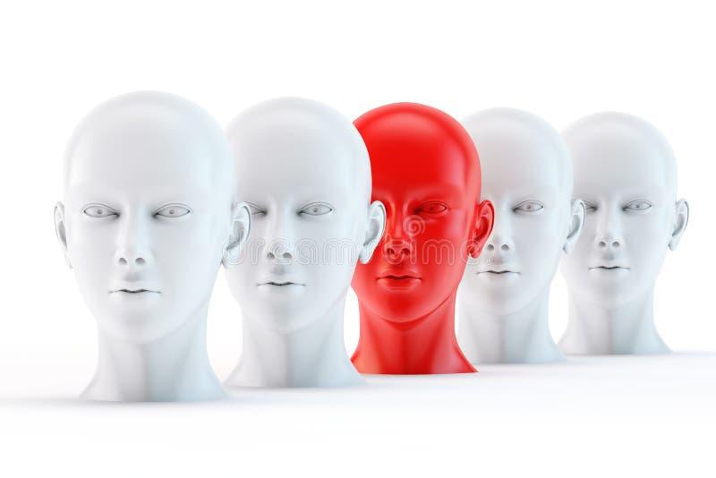 Μοναδικό κόκκινο κεφάλι διανυσματική απεικόνιση
