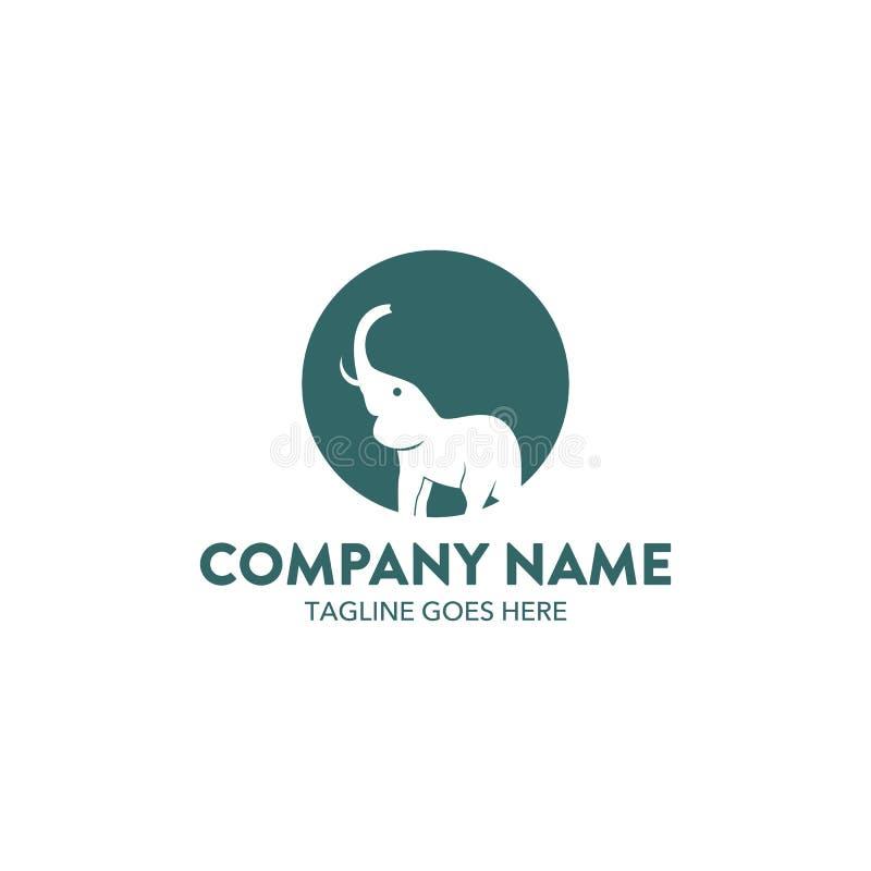 Μοναδικό λογότυπο ελεφάντων διανυσματική απεικόνιση