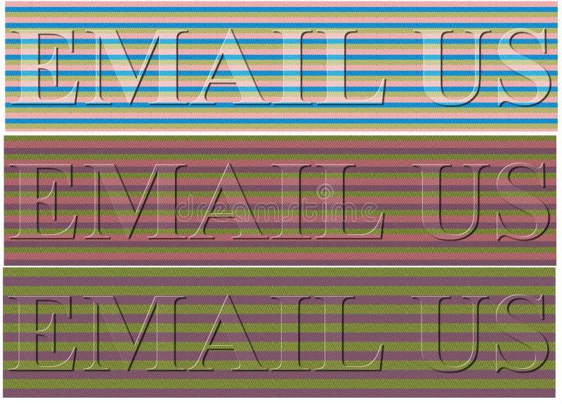 Μοναδικό υπόβαθρο με το ηλεκτρονικό ταχυδρομείο εμείς περίοδος απεικόνιση αποθεμάτων
