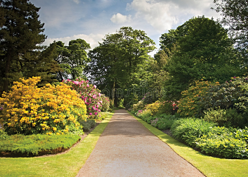 μονοπάτι κήπων στοκ φωτογραφία