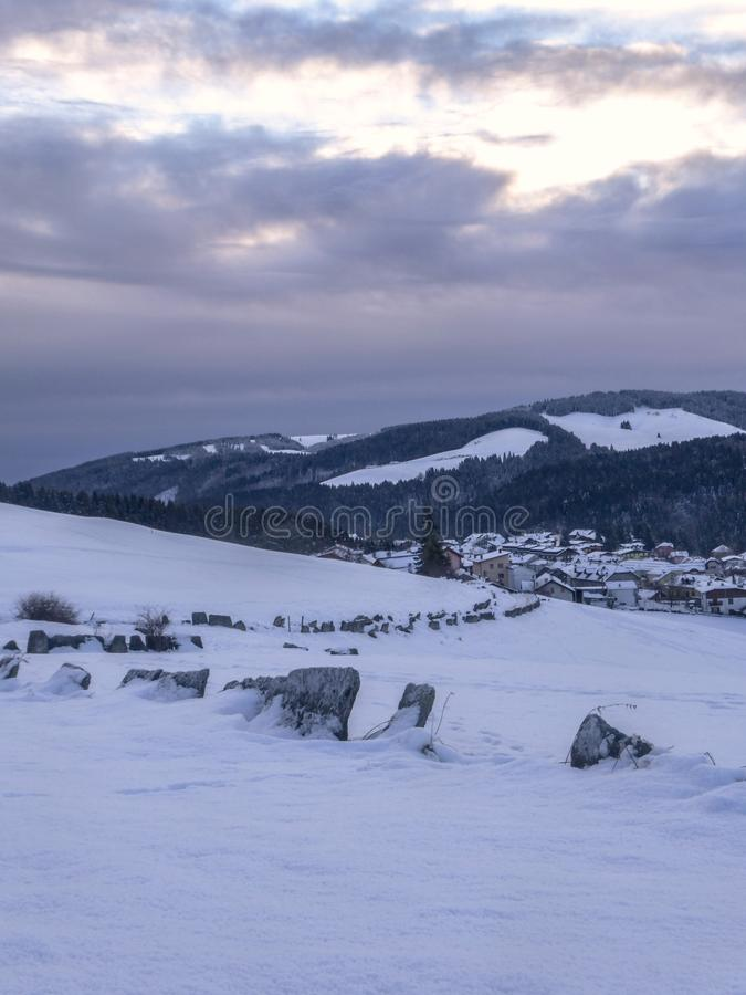 μονοπάτι χιονώδες στοκ φωτογραφίες