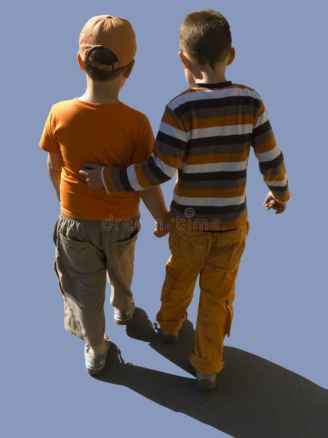 Μονοπάτι ψαλιδίσματος περιπάτων παιδιών στοκ φωτογραφία με δικαίωμα ελεύθερης χρήσης