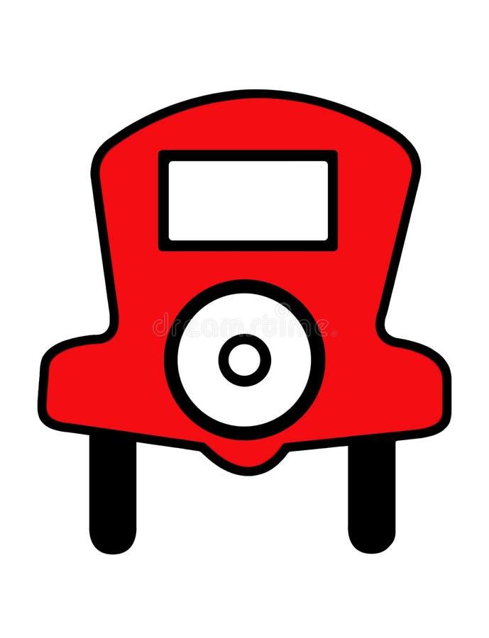 Μονοπωλιακό αυτοκίνητο διανυσματική απεικόνιση