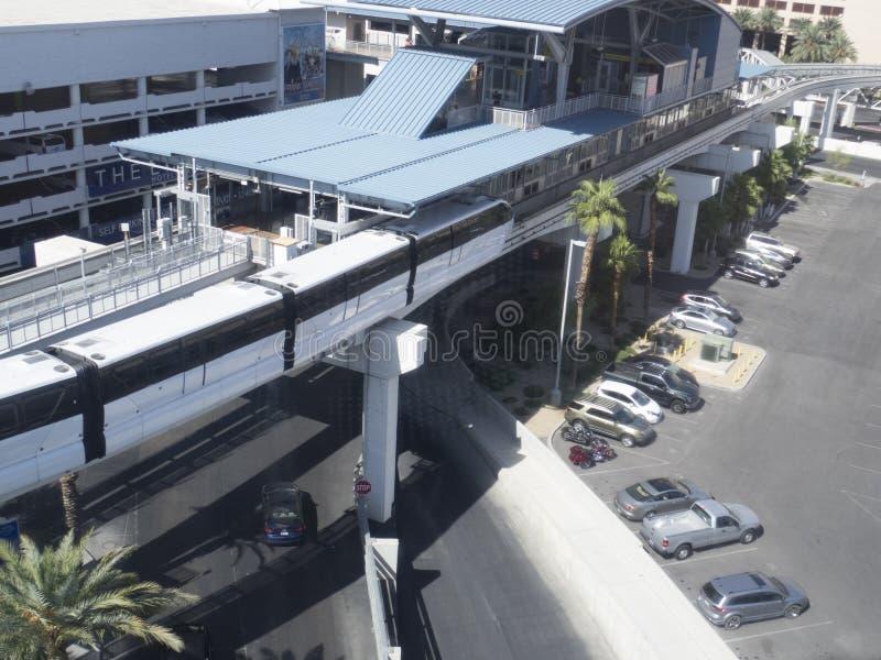 Μονοτρόχιος σιδηρόδρομος του Λας Βέγκας, ΗΠΑ στοκ εικόνες