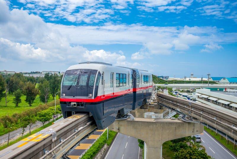 Μονοτρόχιος σιδηρόδρομος πόλεων της Νάχα ραγών Yui στοκ φωτογραφίες με δικαίωμα ελεύθερης χρήσης