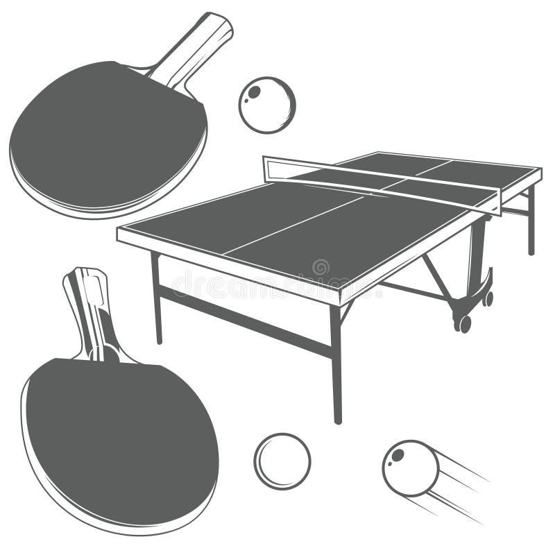 Μονοχρωματικά στοιχεία σχεδίου αντισφαίρισης απεικόνιση αποθεμάτων