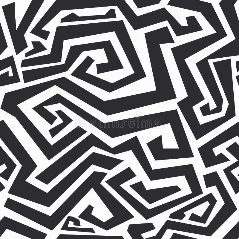 Μονοχρωματική κυρτή άνευ ραφής σύσταση γραμμών διανυσματική απεικόνιση