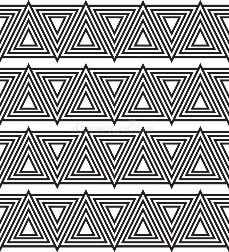 Μονοχρωματικό άνευ ραφής σχέδιο τριγώνων διανυσματική απεικόνιση