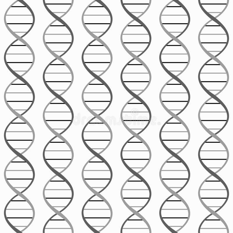 Μονοχρωματικό άνευ ραφής σχέδιο DNA ελεύθερη απεικόνιση δικαιώματος