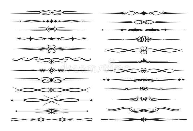 Μονοχρωματικό διάνυσμα συνόρων πλαισίων και διαιρετών κειμένων απεικόνιση αποθεμάτων