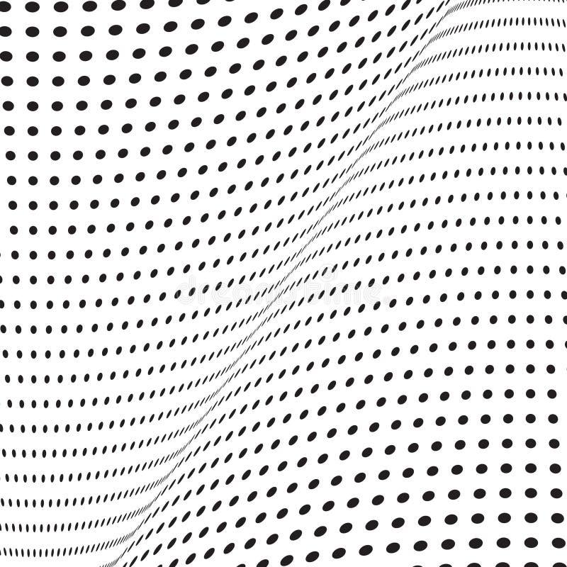 Μονοχρωματικό ημίτονο υπόβαθρο με την παραίσθηση απεικόνιση αποθεμάτων