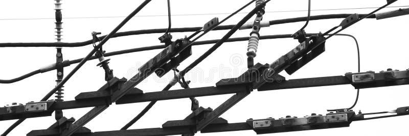 Μονοχρωματικό μέρος του ηλεκτρικού δικτύου μεταφορών στοκ φωτογραφίες