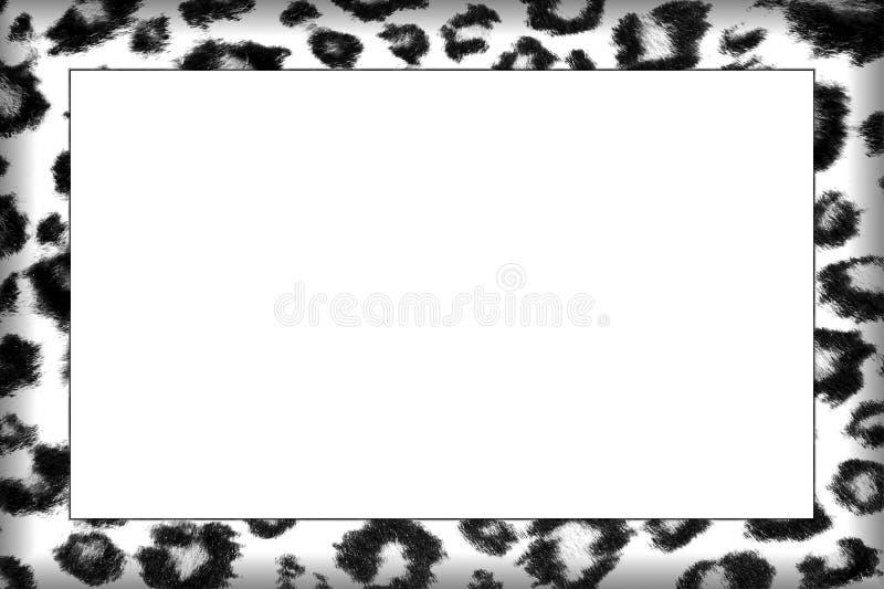 Μονοχρωματικό πλαίσιο δερμάτων λεοπαρδάλεων ελεύθερη απεικόνιση δικαιώματος