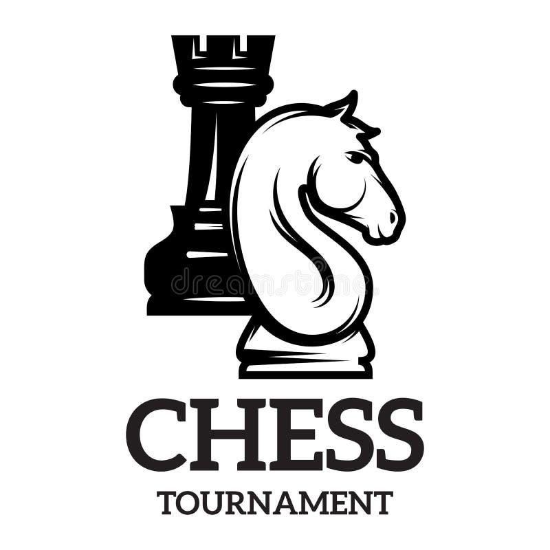 Μονοχρωματικό σχέδιο με τα διαφορετικά κομμάτια σκακιού για το σχέδιο επίσης corel σύρετε το διάνυσμα απεικόνισης απεικόνιση αποθεμάτων