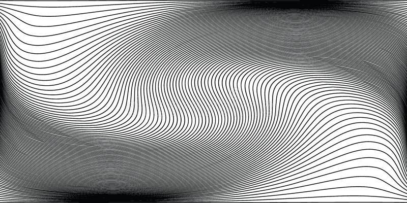 Μονοχρωματικό υπόβαθρο κυμάτων Απλή γραμμική ημίτοή σύσταση ελεύθερη απεικόνιση δικαιώματος