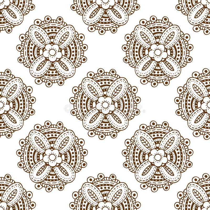Μονοχρωματικό floral σχέδιο απεικόνιση αποθεμάτων