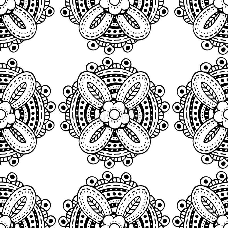 Μονοχρωματικό floral σχέδιο ελεύθερη απεικόνιση δικαιώματος