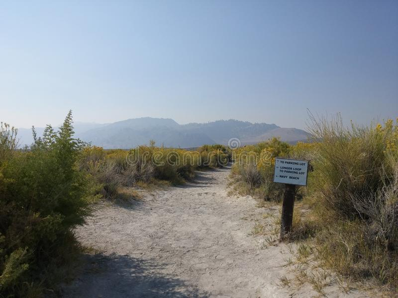 Μονο κρατική φυσική επιφύλαξη ηφαιστειακών τεφρών λιμνών στοκ φωτογραφίες με δικαίωμα ελεύθερης χρήσης