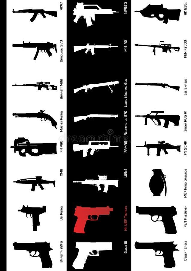 μοντέλα πυροβόλων όπλων στοκ εικόνες