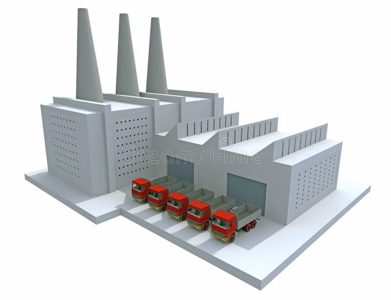 μοντέλο εργοστασίων ελεύθερη απεικόνιση δικαιώματος